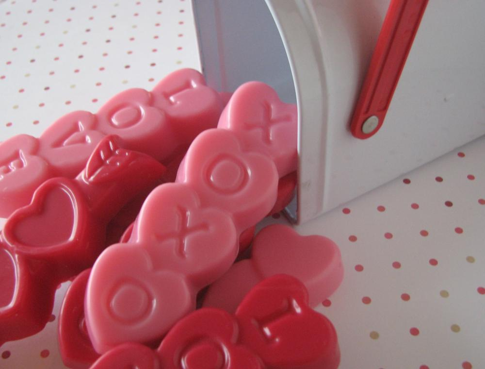 Valentine's Day shaped Soy Wax Melts 4 Pack